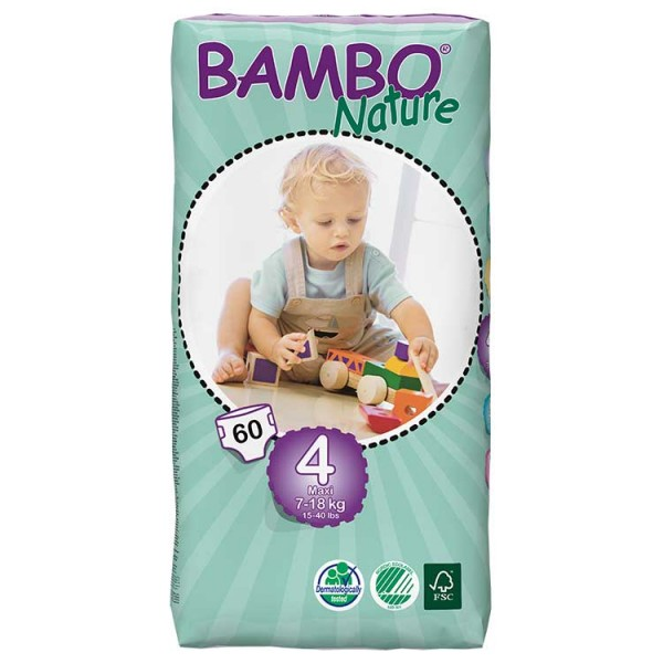 Bambo® Nature | Maxi | Size 4 Nappies | Value Pack