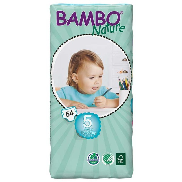 Bambo® Nature | Junior | Size 5 Nappies | Value Pack