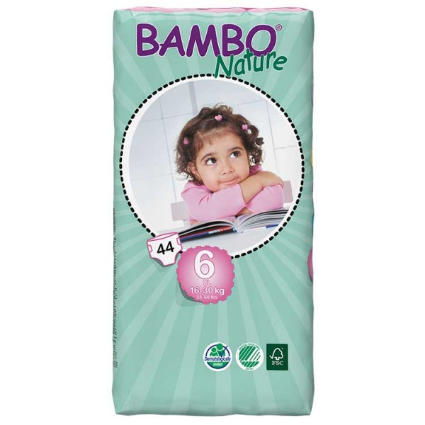 Bambo® Nature | XL | Size 6 Nappies | Value Pack