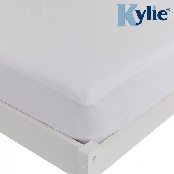 Kylie Mattress Protector   100% Cotton Top Cover   Waterproof