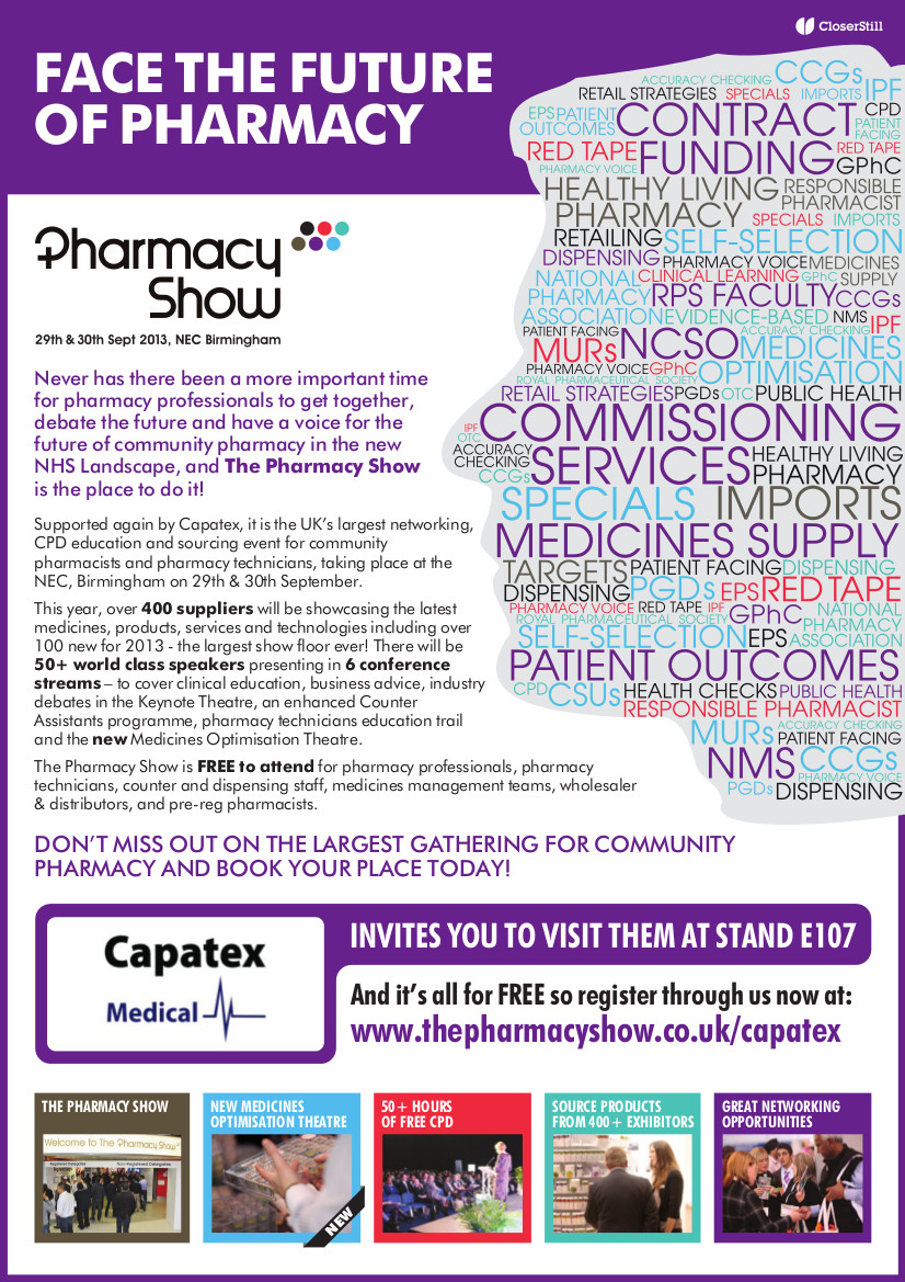 Capatex at the Pharmacy Show